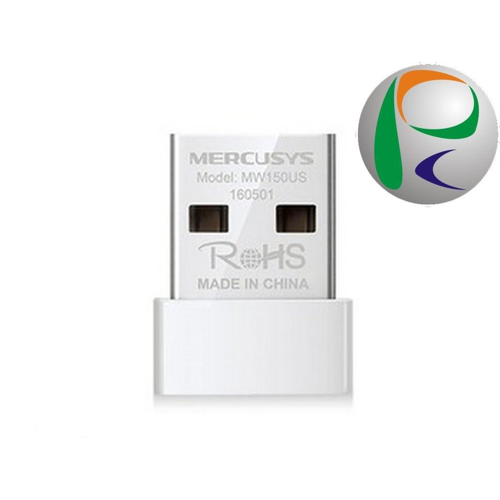 Bộ Thu Wifi Không Dây Chuẩn N Mini USB Mercusys MW150US (150Mbps) - Hàng Chính Hãng