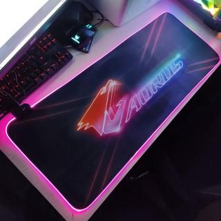🎯 Mouse Pad, bàn di chuột, lót di chuột tích hợp Led RGB Aorus sáng viền, kích thước 80cm x 30cm dày 4mm giá tốt