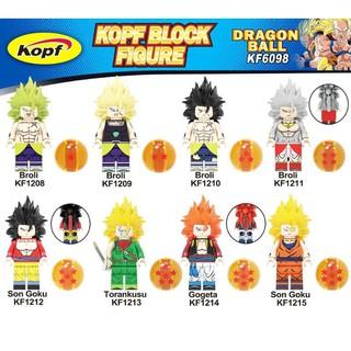 Xếp Hình Minifigures Các Nhân Vật Dragon Ball : Son Goku, Broly, Gogeta KF6098