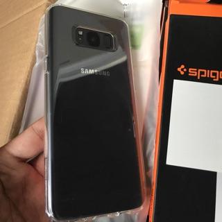 Ốp lưng Galaxy S8 plus Spigen Silicon trong