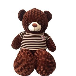 [ HOT SALE ] Gấu bông Teddy Cao Cấp khổ vải 80cm Cao 60cm màu Nâu _ Gấu Bông Xinh Xinh