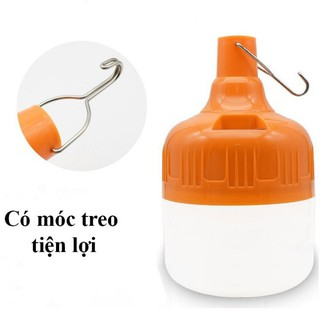 Bóng đèn tích điện 100W tích điện 6h đến 8h có móc treo tiện lợi thumbnail