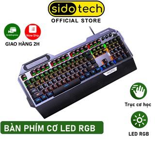 Bàn phím cơ gaming RGB SIDOTECH K100 dòng bàn phím máy tính chơi game 104 phím có LED có kê tay chống mỏi - Chính Hãng thumbnail