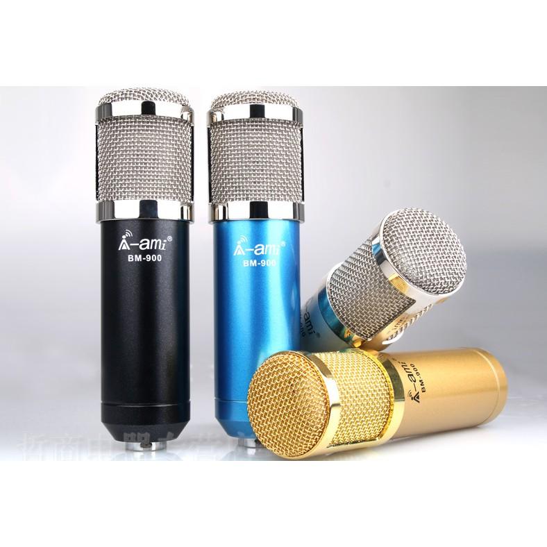 Micro Míc Thu âm BM900 Woaichang - Mic hát Karaoke Live Stream chuyên nghiệp