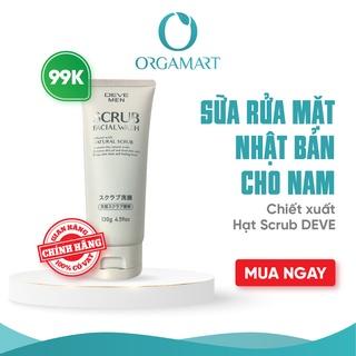 Sữa Rửa Mặt Hạt Deve Scrub Dành Cho Nam - Facial Wash Nhật Bản (tuýp 130g) thumbnail