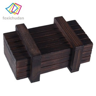 FCD Intelligence Magic Puzzle Wooden Secret Box Compartment Brain Teaser Gifts