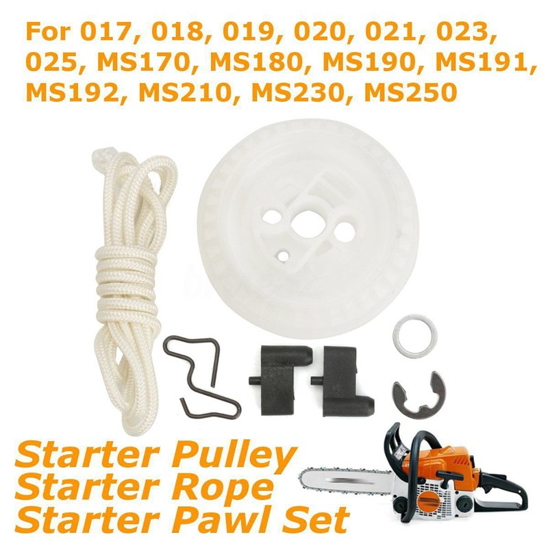 Recoil Starter Rope Pulley Pawl Set For STIHL MS210 MS230
