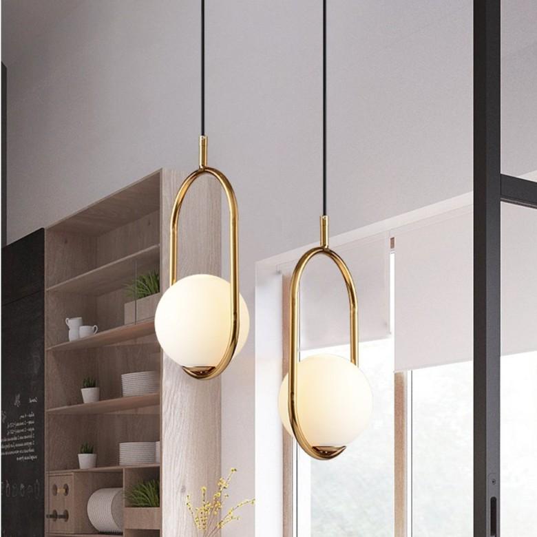 Combo 2 đèn thả MONSKY KOW trang trí nội thất cao cấp kèm bóng LED chuyên dụng
