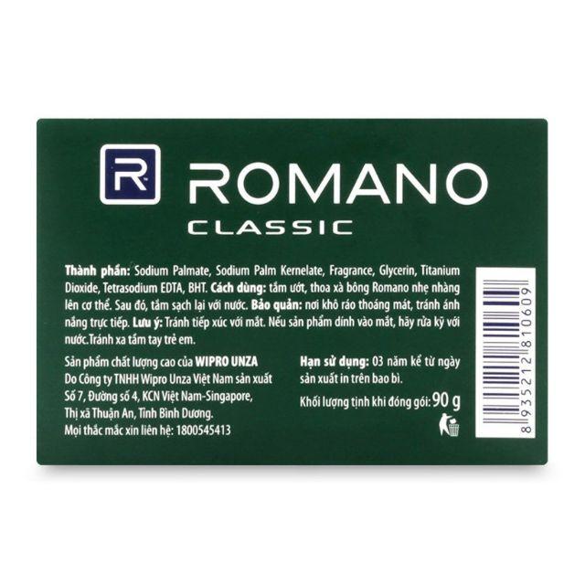 2 bánh Xà bông Romano 90g