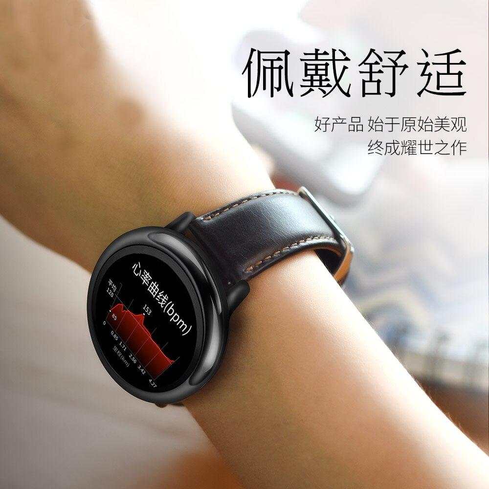 Dây Đeo Bằng Da Thật 22mm Cho Đồng Hồ Thông Minh Xiaomi Huami Amazfit Stratos Pace 2 1