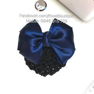 Kẹp tóc lưới búi công sở màu xanh dương ROSES Hair Accessories thumbnail