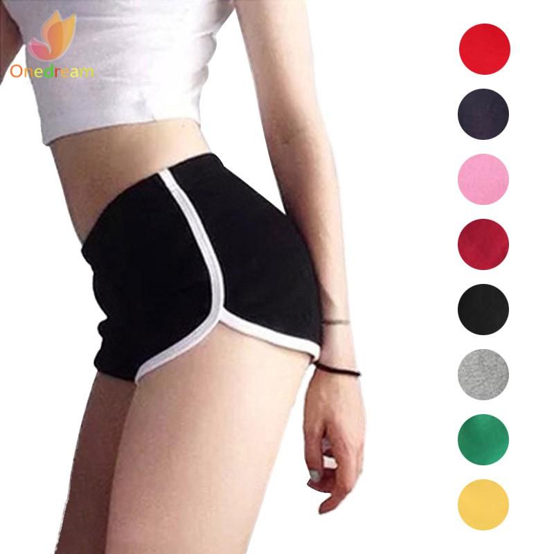 ❦ღ♣ Sexy Women Fitness Sports Shorts Elastic Waist Running Gym Yoga Breathable Cotton Short Pants