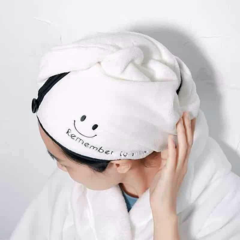 Khăn lau Tóc thần thánh –  Khăn quấn đầu làm khô tóc mềm mịn
