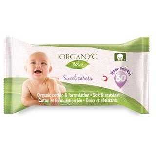 """Khăn ướt hữu cơ Organyc Baby 60 miếng giá chỉ còn <strong class=""""price"""">18.500.000.000đ</strong>"""