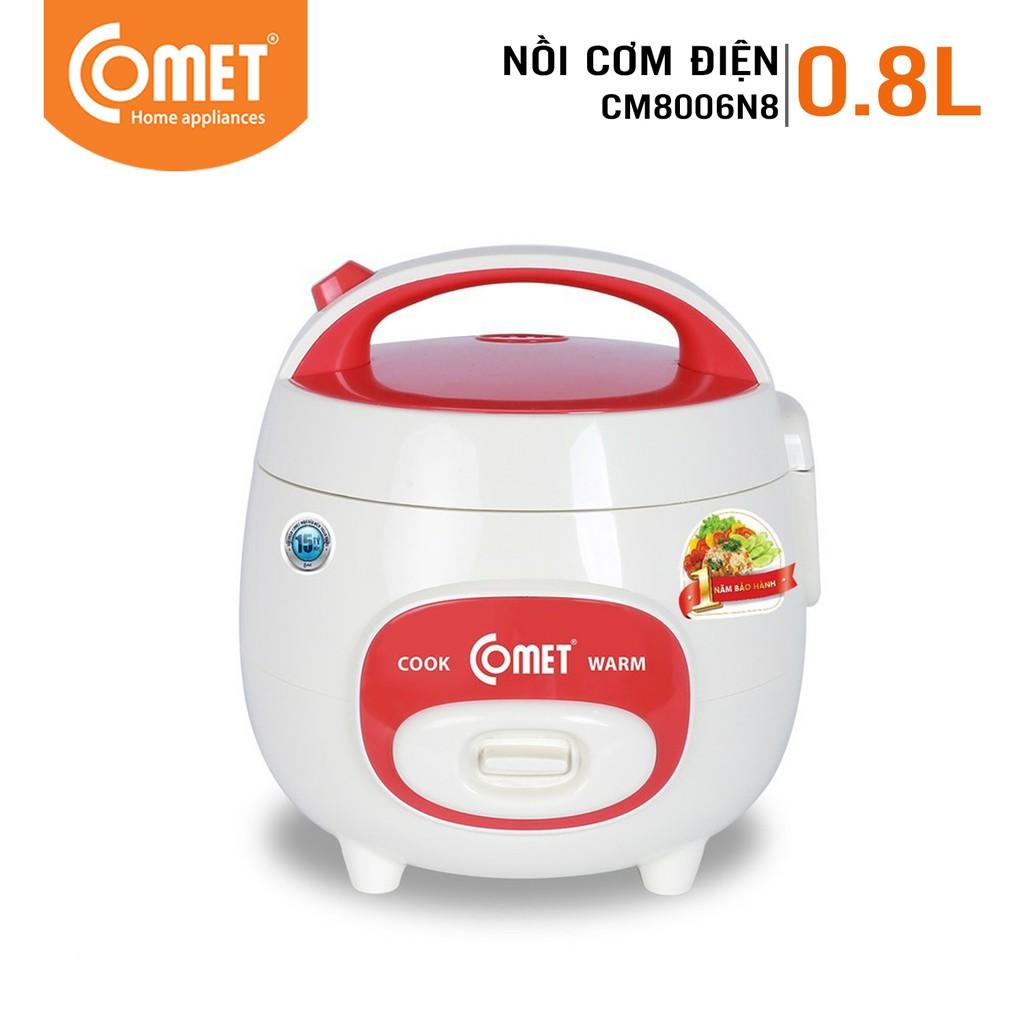[Mã COMETT20 giảm 20% đơn 300K] Nồi cơm điện nắp gài 0.8L COMET CM8006