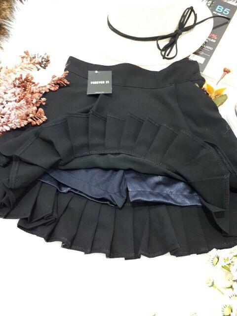 Chân váy sếp ly 2 tầng chất dày - có túi, có kèm quần vô cùng tiện lợi ( <52kg)