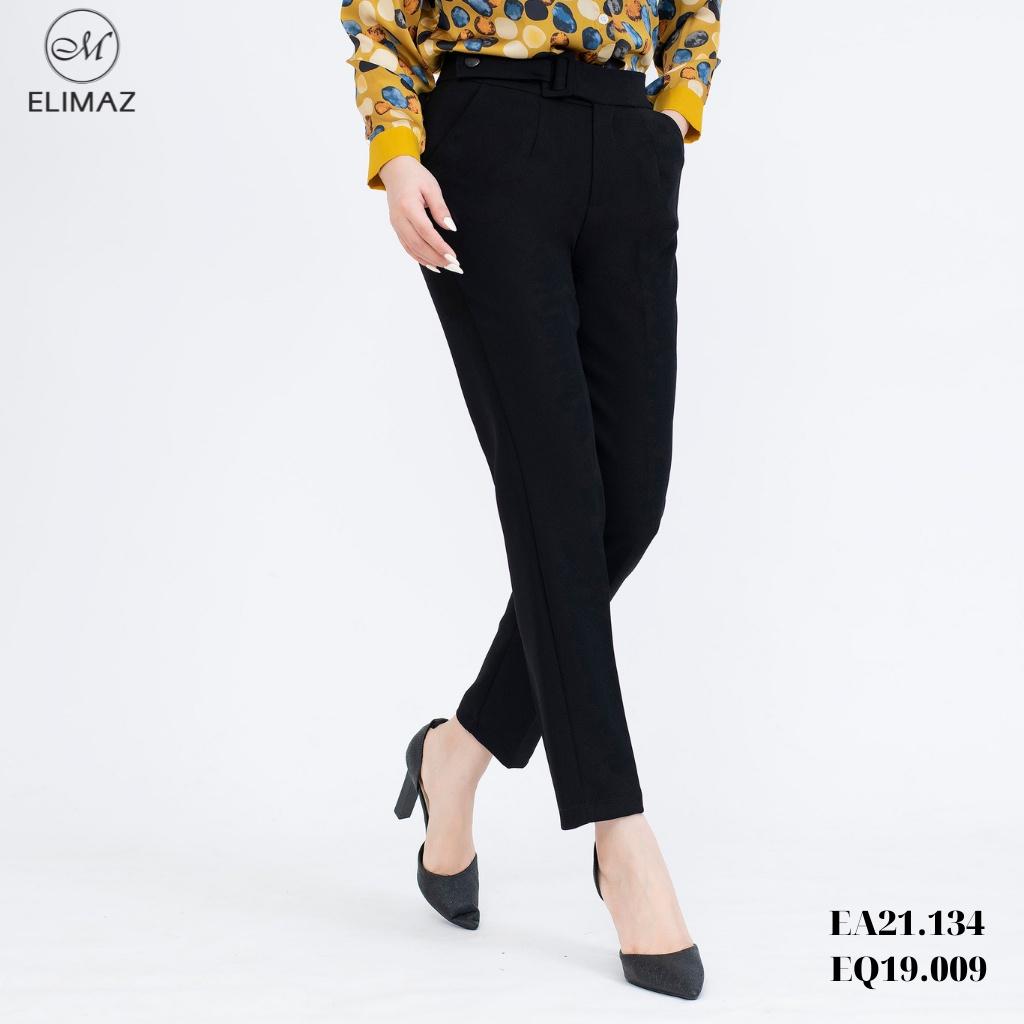 Mặc gì đẹp: Sang trọng với Quần tây âu nữ công sở Elimaz đai eo EQ19.009