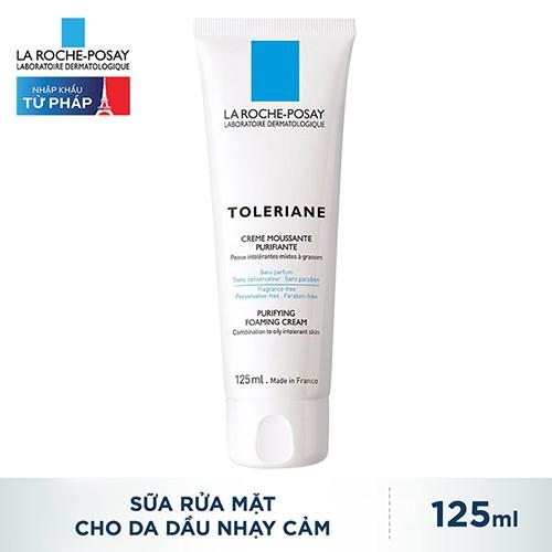 Sữa Rửa Mặt Cho Da Hỗn Hợp Và Da Dầu Nhạy Cảm La Roche Posay Toleriane Purifying Foaming Cream 125ml