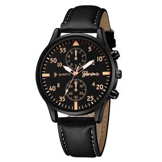 Đồng hồ nam Geneva G30 mặt tròn dây da 3 kim