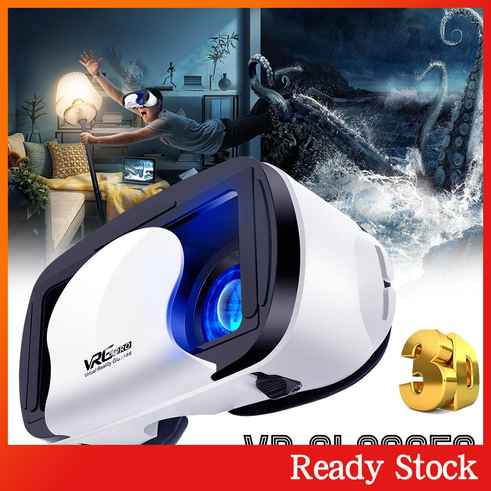 Ready Stock Virtual Reality Glasses 3D VR Glasses 5~7inch Smartphone Head-Mounted Multifunctional Travel