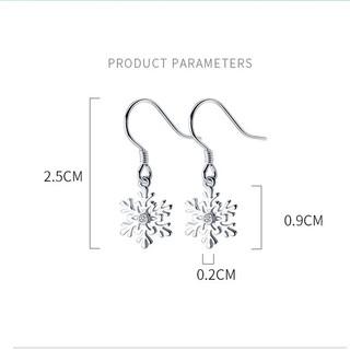 Hình ảnh [Mã FABR33 giảm 15% tối đa 50K đơn từ 150K] Bông tai bông tuyết xinh xắn cho nữ B2620 - Bảo Ngọc Jewelry-6