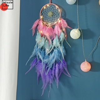 Mizzle Dream Catcher Hanging Ornaments Handmade Wind Chimes Home Decoration Wall Hanging Dream Catcher Girls Bedroom Decoration
