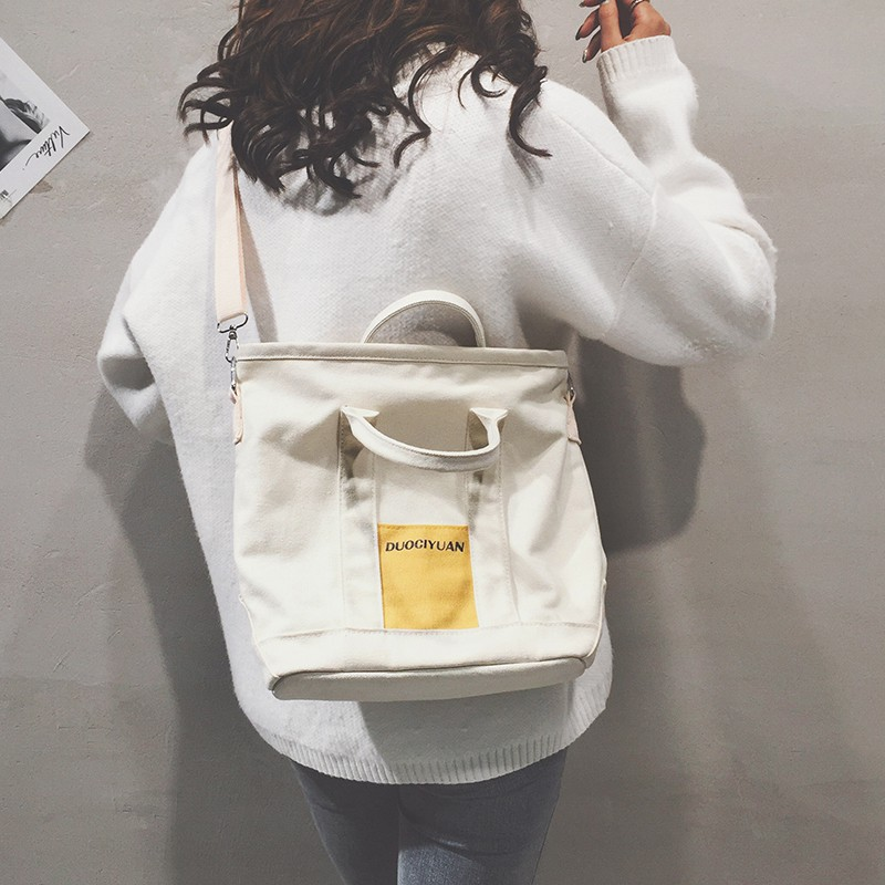 Canvas Tote bag female hand bag 2018 autumn and winter new s
