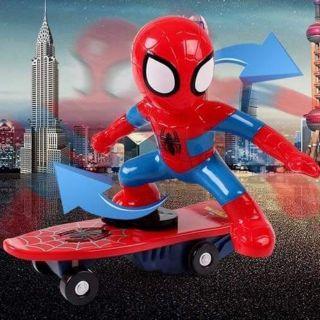 Siêu nhân nhện lướt ván cho bé