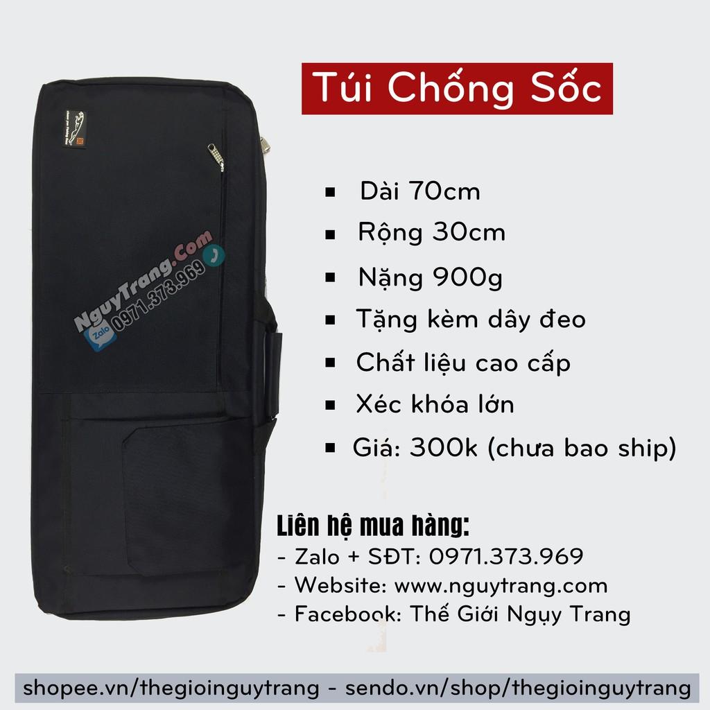 Túi chống sốc đen vuông dài 70cm đựng cần câu PCP