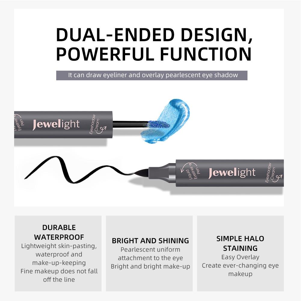 Shimmer Long Lasting Makeup Cosmetic Tools Eye Shadow Waterproof Pearl Glitter Double End Liquid Eyeliner