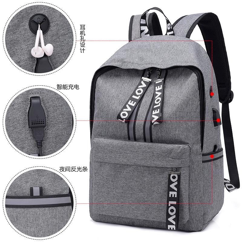 Nhà máy trực tiếp ba lô vải Hàn Quốc Sạc USB cho sinh viên nam và nữ gói ba lô máy tính du lịch ngoài trời - 22849459 , 5404048908 , 322_5404048908 , 210323 , Nha-may-truc-tiep-ba-lo-vai-Han-Quoc-Sac-USB-cho-sinh-vien-nam-va-nu-goi-ba-lo-may-tinh-du-lich-ngoai-troi-322_5404048908 , shopee.vn , Nhà máy trực tiếp ba lô vải Hàn Quốc Sạc USB cho sinh viên nam v