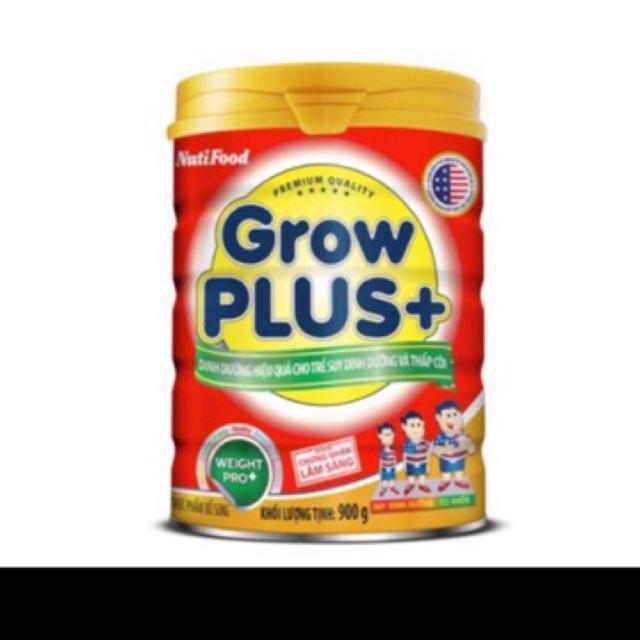 (Shopee tro gia)Sữa grow plus đỏ trên 1 tuổi lon 900g