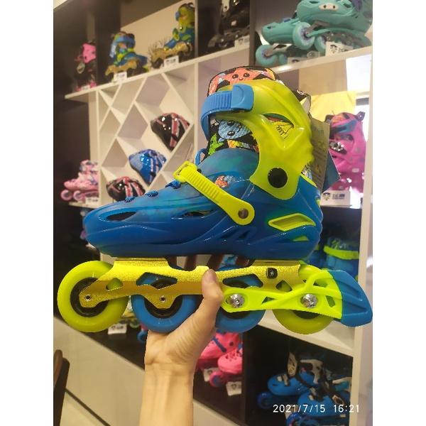 [TẶNG BẢO HỘ CHÍNH HÃNG] Giày patin Calary X1 XANH cao cấp, fame hợp kim vô cùng bền chắc, an toàn cho xương chân trẻ em
