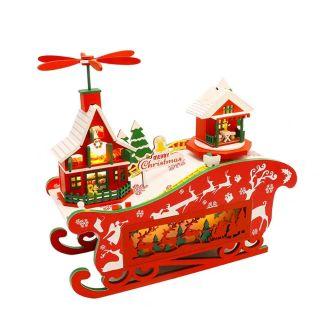 Kèm keo dán – Mô hình nhà gỗ búp bê Dollhouse DIY – M908 Magical Christmas Night