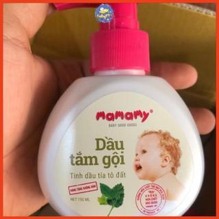 Dầu tắm Gội Thiên Nhiên Mamamy 150ml KHÁNG KHUẨN, NGỪA HĂM, RÔM SẢY -HÀNG QUÀ TẶNG thumbnail