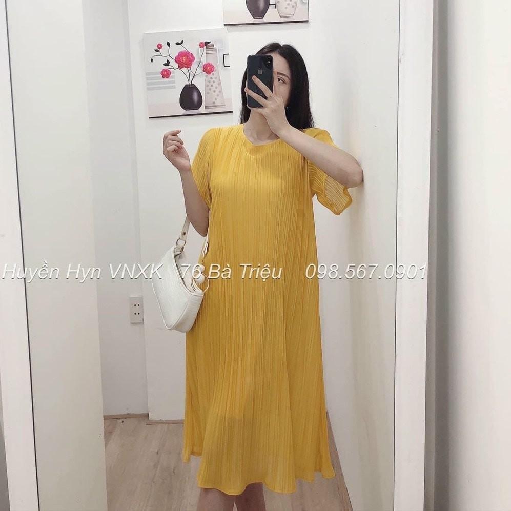 Mặc gì đẹp: Dễ chịu với Váy Bầu Đầm Bầu Xếp Ly [Hàng Loại 1] Voan Lụa 2 Lớp Mặc Đi Dự Tiệc Đi Làm Công Sở Đi Chơi Mùa Hè Thu HD2653 Honey Mommy
