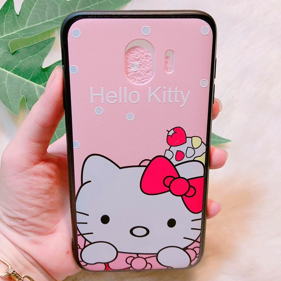 Ốp Samsung J4 2018 họa tiết kitty cute