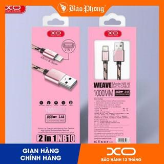 Cáp XO - NB10 dây dù chiều dài 1m-2m chân lightning micro typeC thumbnail
