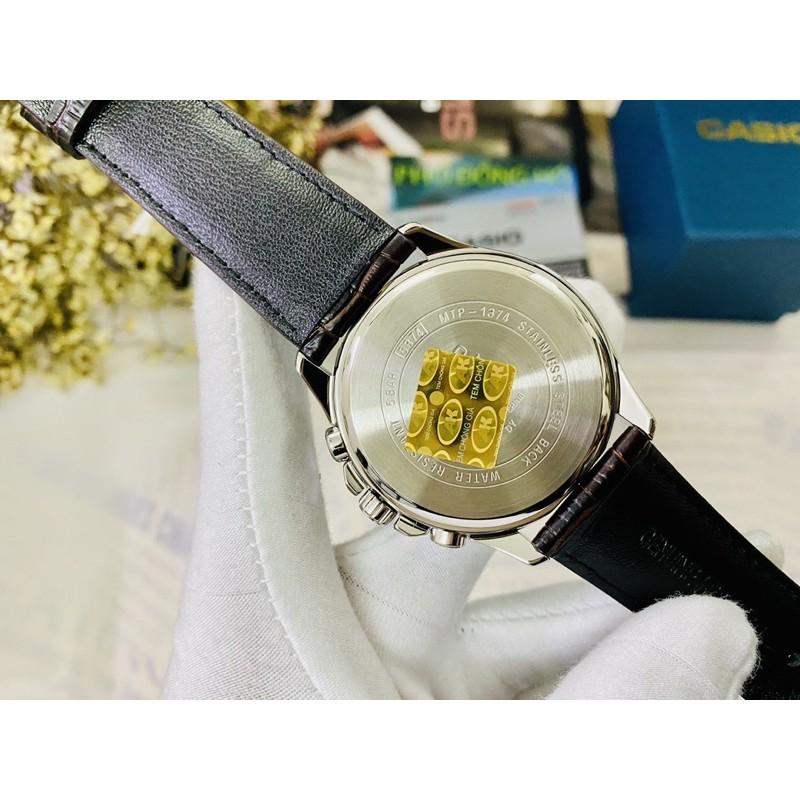 Đồng hồ nam dây da Casio chính hãng Anh Khuê MTP-1374L-7AVDF