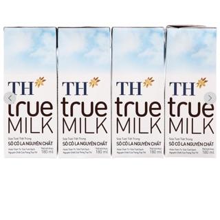 Sữa tươi TH truemilk 180ml Có đường,Ít đường,Nguyên chất, Dâu, Sôcla (48 hộp)