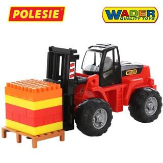 Xe nâng kèm bộ xếp hình 30 chi tiết – Polesie Toys