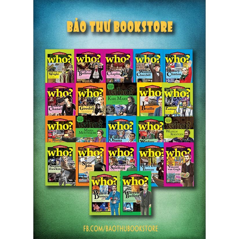 Sách - WHO chuyện kể về dạnh nhân thế giới (bộ 22 cuốn)