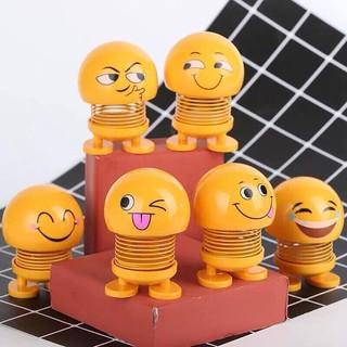 Combo 7 thú nhún Emoji lò xo ngộ nghĩnh Emoji 7 biểu cảm dễ thương