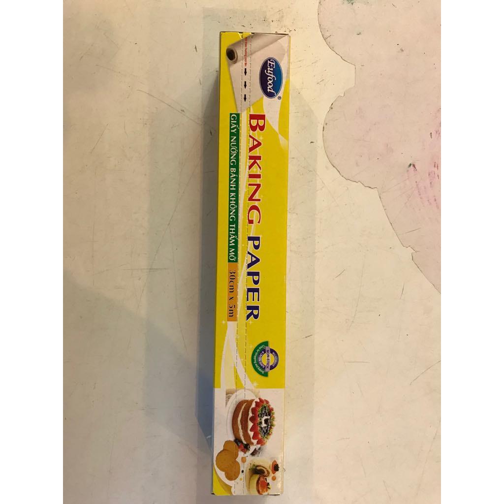 giấy nến Nướng bánh không thấm mỡ cuộn nhỏ 30cm x 5m