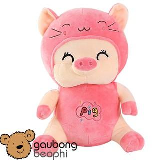 Lợn bông mềm ngồi hàng nhập kiểu dáng ngộ nghĩnh, đáng yêu, quà tặng cho bé