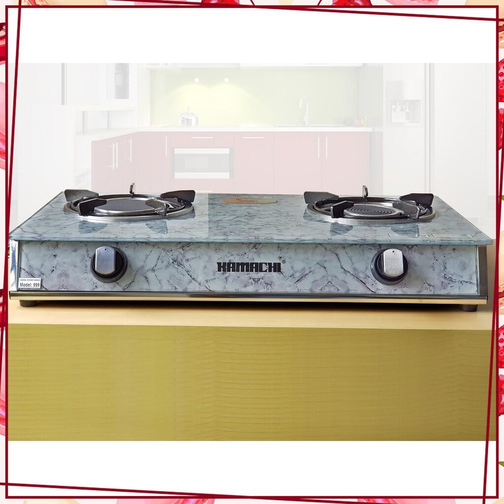 [Sale Giá Sốc] Bếp ga đôi cao cấp kính cường lực đầu đốt đồng hãng KAMACHI KM-626 - Đầu đốt hồng ngoại KM-999