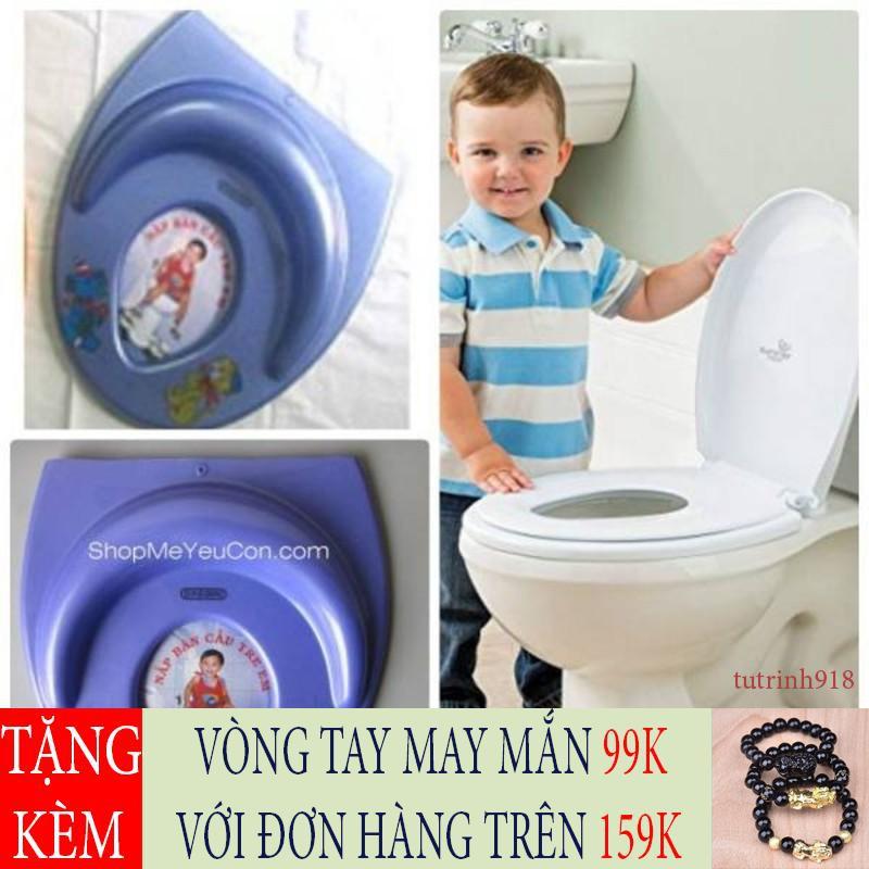 [GIẢM GIÁ SỐC] Nắp bồn cầu thu nhỏ cho bé ngồi an toàn bọc da cho bé Việt Nam
