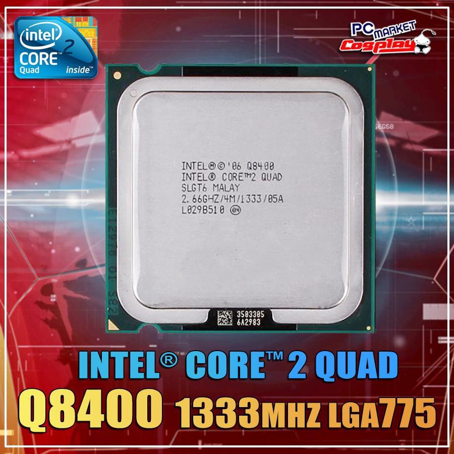 Chíp Q8400 socket 775,CPU Q8400 dùng main G31,- Q8400, Hàng chính hãng(Tặng keo tản nhiệt)