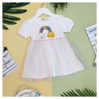 Váy cotton bé gái phối chân ren size 1-10, cho bé 10-30kg. váy phần trên cotton mặc mát, dễ thương, màu nhã nhặn