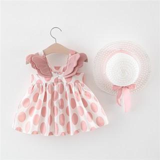 Bộ váy đầm ĐÔI CÁNH THIÊN THẦN tặng nón xinh xắn dễ thương cho bé V17 (từ 5-15Kg)